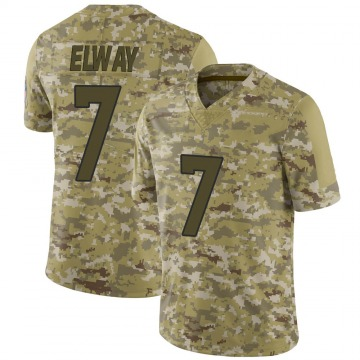 Youth Nike Denver Broncos John Elway Camo 2018 Salute to Service Jersey - Limited