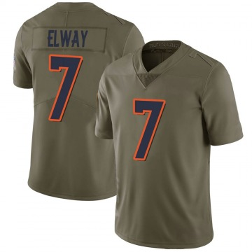 Youth Nike Denver Broncos John Elway Green 2017 Salute to Service Jersey - Limited