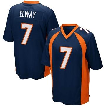 Youth Nike Denver Broncos John Elway Navy Blue Alternate Jersey - Game