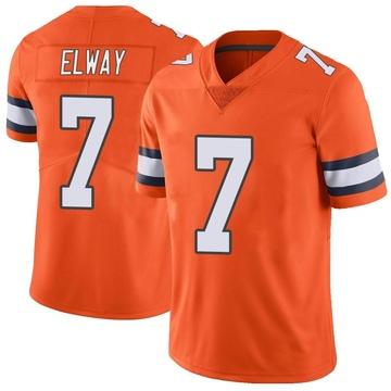 Youth Nike Denver Broncos John Elway Orange Color Rush Vapor Untouchable Jersey - Limited