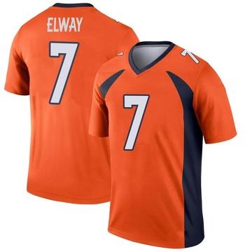 Youth Nike Denver Broncos John Elway Orange Jersey - Legend