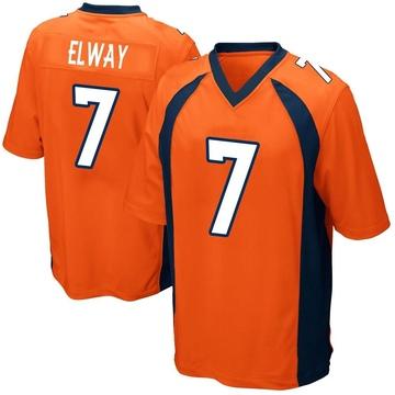 Youth Nike Denver Broncos John Elway Orange Team Color Jersey - Game