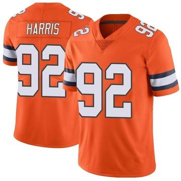 Youth Nike Denver Broncos Jonathan Harris Orange Color Rush Vapor Untouchable Jersey - Limited