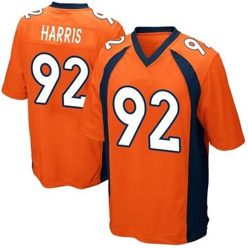 Youth Nike Denver Broncos Jonathan Harris Orange Team Color Jersey - Game
