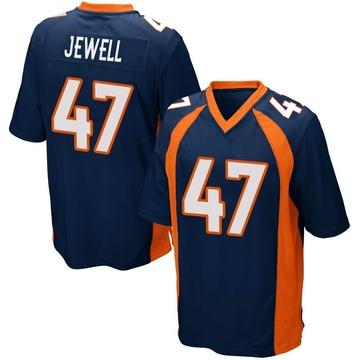 Youth Nike Denver Broncos Josey Jewell Navy Blue Alternate Jersey - Game