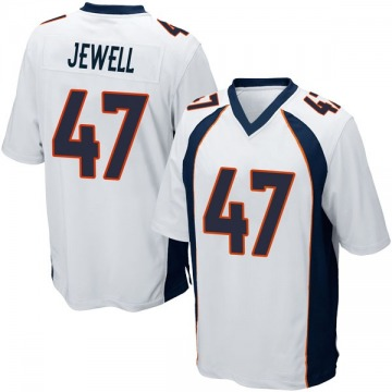 Youth Nike Denver Broncos Josey Jewell White Jersey - Game