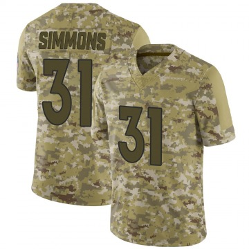 Youth Nike Denver Broncos Justin Simmons Camo 2018 Salute to Service Jersey - Limited