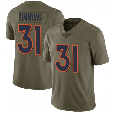 Youth Nike Denver Broncos Justin Simmons Green 2017 Salute to Service Jersey - Limited