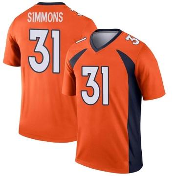 Youth Nike Denver Broncos Justin Simmons Orange Jersey - Legend