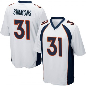 Youth Nike Denver Broncos Justin Simmons White Jersey - Game