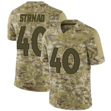Youth Nike Denver Broncos Justin Strnad Camo 2018 Salute to Service Jersey - Limited