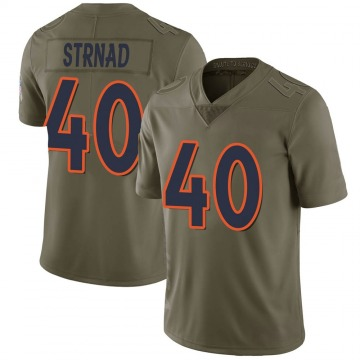 Youth Nike Denver Broncos Justin Strnad Green 2017 Salute to Service Jersey - Limited
