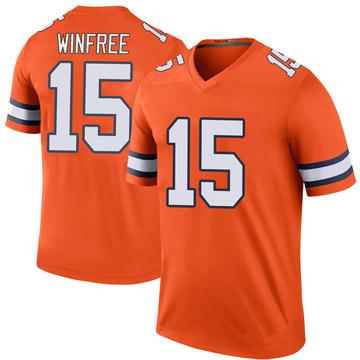 Youth Nike Denver Broncos Juwann Winfree Orange Color Rush Jersey - Legend
