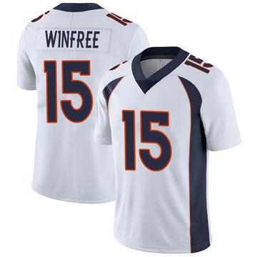 Youth Nike Denver Broncos Juwann Winfree White Vapor Untouchable Jersey - Limited