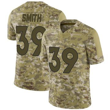 Youth Nike Denver Broncos Kahani Smith Camo 2018 Salute to Service Jersey - Limited