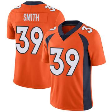 Youth Nike Denver Broncos Kahani Smith Orange Team Color Vapor Untouchable Jersey - Limited