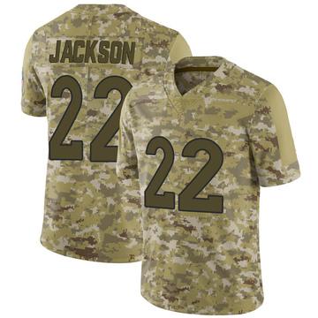 Youth Nike Denver Broncos Kareem Jackson Camo 2018 Salute to Service Jersey - Limited