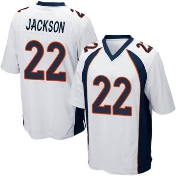 Youth Nike Denver Broncos Kareem Jackson White Jersey - Game