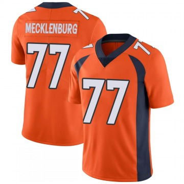 Youth Nike Denver Broncos Karl Mecklenburg Orange 100th Vapor Jersey - Limited