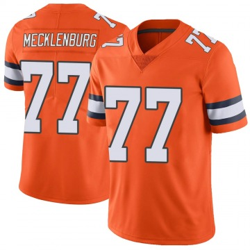 Youth Nike Denver Broncos Karl Mecklenburg Orange Color Rush Vapor Untouchable Jersey - Limited