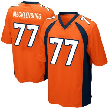 Youth Nike Denver Broncos Karl Mecklenburg Orange Team Color Jersey - Game