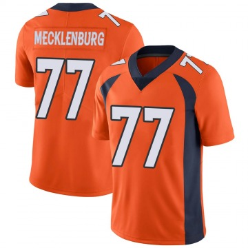 Youth Nike Denver Broncos Karl Mecklenburg Orange Team Color Vapor Untouchable Jersey - Limited