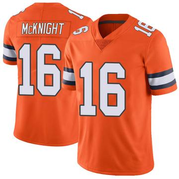 Youth Nike Denver Broncos Kelvin McKnight Orange Color Rush Vapor Untouchable Jersey - Limited