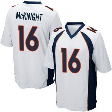 Youth Nike Denver Broncos Kelvin McKnight White Jersey - Game