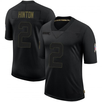Youth Nike Denver Broncos Kendall Hinton Black 2020 Salute To Service Jersey - Limited