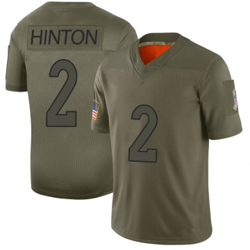 Youth Nike Denver Broncos Kendall Hinton Camo 2019 Salute to Service Jersey - Limited