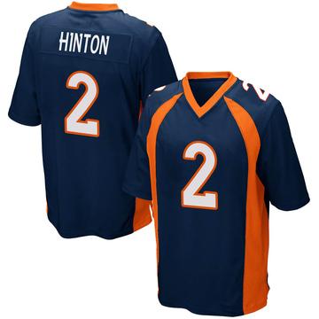 Youth Nike Denver Broncos Kendall Hinton Navy Blue Alternate Jersey - Game