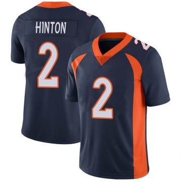Youth Nike Denver Broncos Kendall Hinton Navy Vapor Untouchable Jersey - Limited