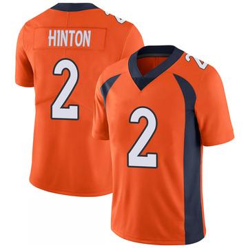 Youth Nike Denver Broncos Kendall Hinton Orange 100th Vapor Jersey - Limited