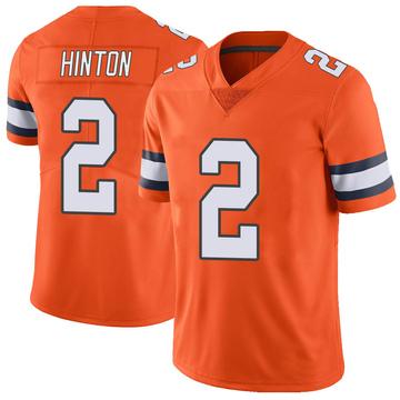 Youth Nike Denver Broncos Kendall Hinton Orange Color Rush Vapor Untouchable Jersey - Limited