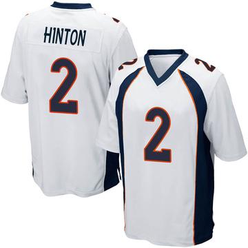 Youth Nike Denver Broncos Kendall Hinton White Jersey - Game