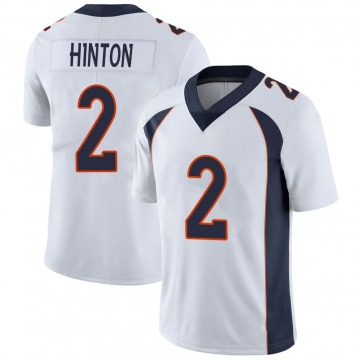 Youth Nike Denver Broncos Kendall Hinton White Vapor Untouchable Jersey - Limited