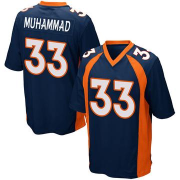 Youth Nike Denver Broncos Khalfani Muhammad Navy Blue Alternate Jersey - Game