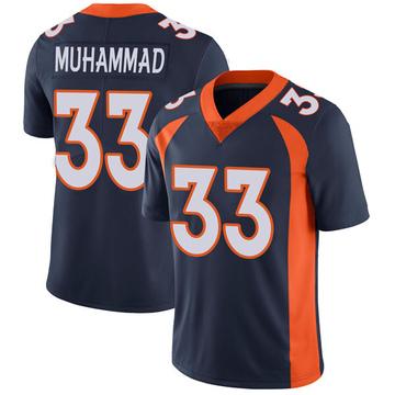 Youth Nike Denver Broncos Khalfani Muhammad Navy Vapor Untouchable Jersey - Limited