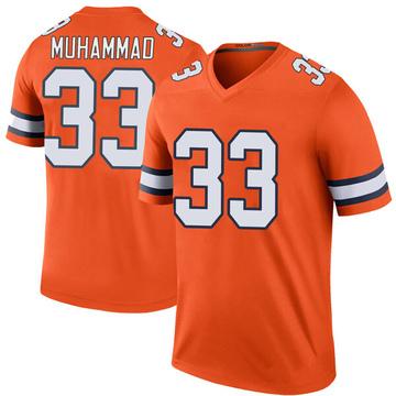 Youth Nike Denver Broncos Khalfani Muhammad Orange Color Rush Jersey - Legend