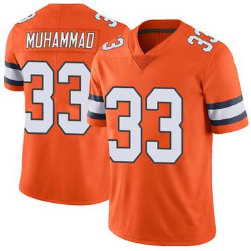 Youth Nike Denver Broncos Khalfani Muhammad Orange Color Rush Vapor Untouchable Jersey - Limited