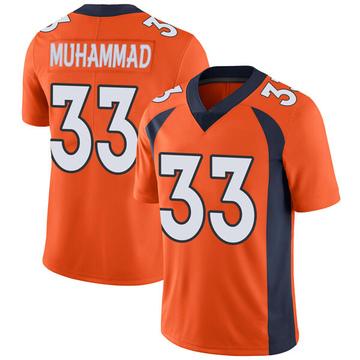 Youth Nike Denver Broncos Khalfani Muhammad Orange Team Color Vapor Untouchable Jersey - Limited