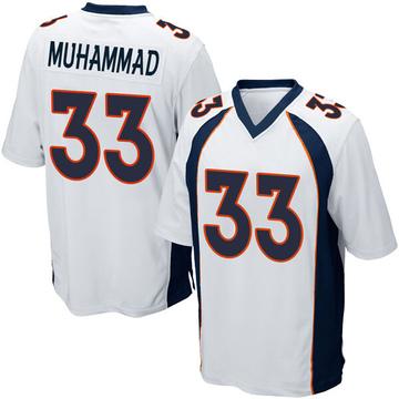 Youth Nike Denver Broncos Khalfani Muhammad White Jersey - Game