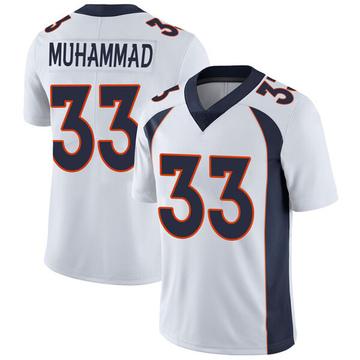 Youth Nike Denver Broncos Khalfani Muhammad White Vapor Untouchable Jersey - Limited