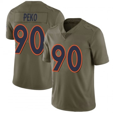Youth Nike Denver Broncos Kyle Peko Green 2017 Salute to Service Jersey - Limited