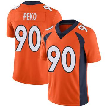 Youth Nike Denver Broncos Kyle Peko Orange Team Color Vapor Untouchable Jersey - Limited