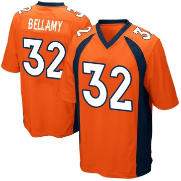 Youth Nike Denver Broncos LeVante Bellamy Orange Team Color Jersey - Game