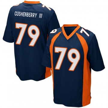 Youth Nike Denver Broncos Lloyd Cushenberry III Navy Blue Alternate Jersey - Game