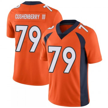 Youth Nike Denver Broncos Lloyd Cushenberry III Orange 100th Vapor Jersey - Limited