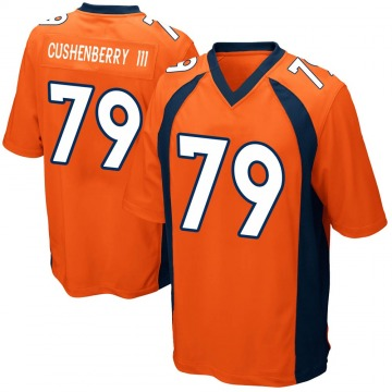 Youth Nike Denver Broncos Lloyd Cushenberry III Orange Team Color Jersey - Game