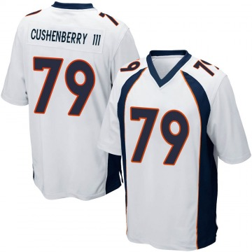 Youth Nike Denver Broncos Lloyd Cushenberry III White Jersey - Game